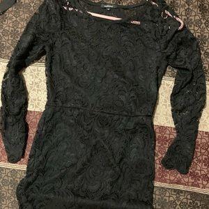 Black thigh length dress